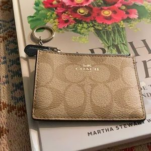 Coach key chain card holder